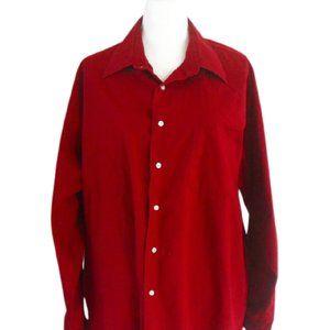Haggar XL Red Button Down Shirt
